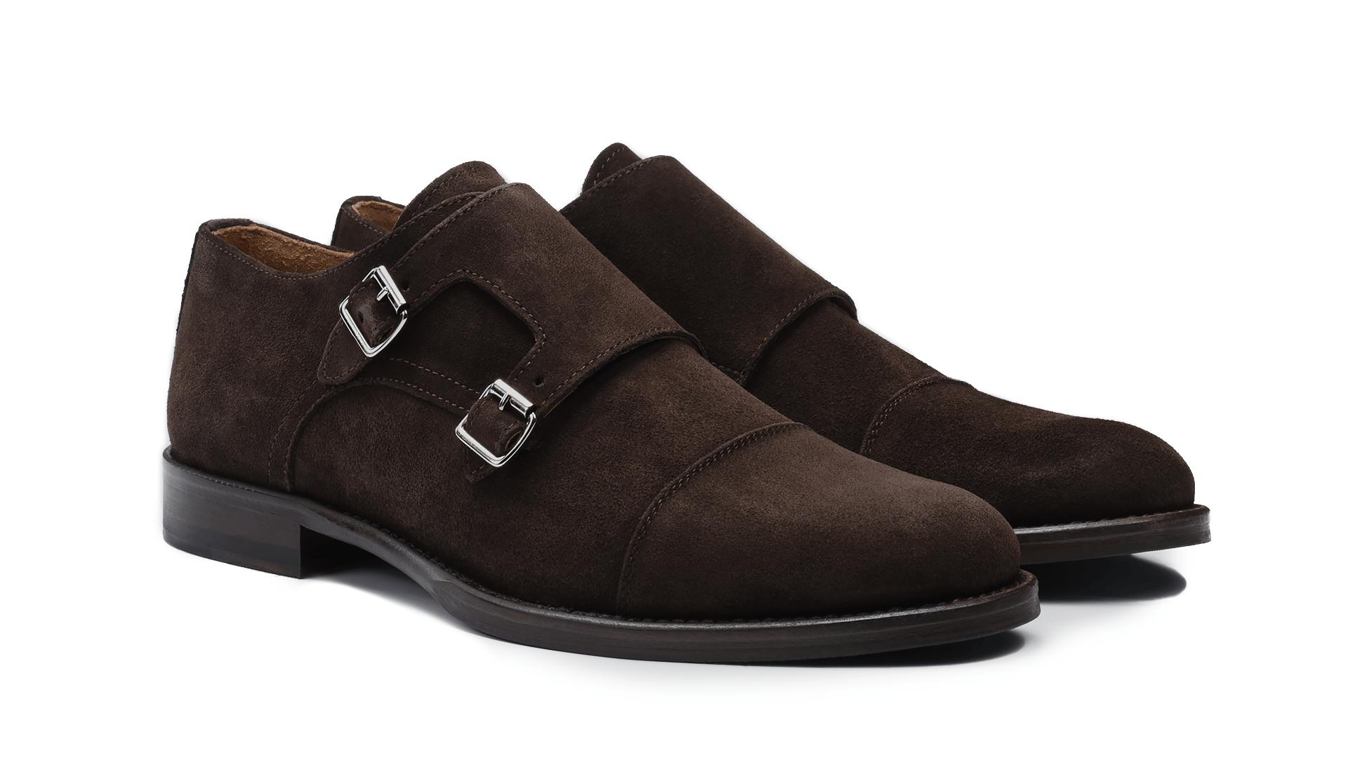 Monk Shoes Zamsz Caffè