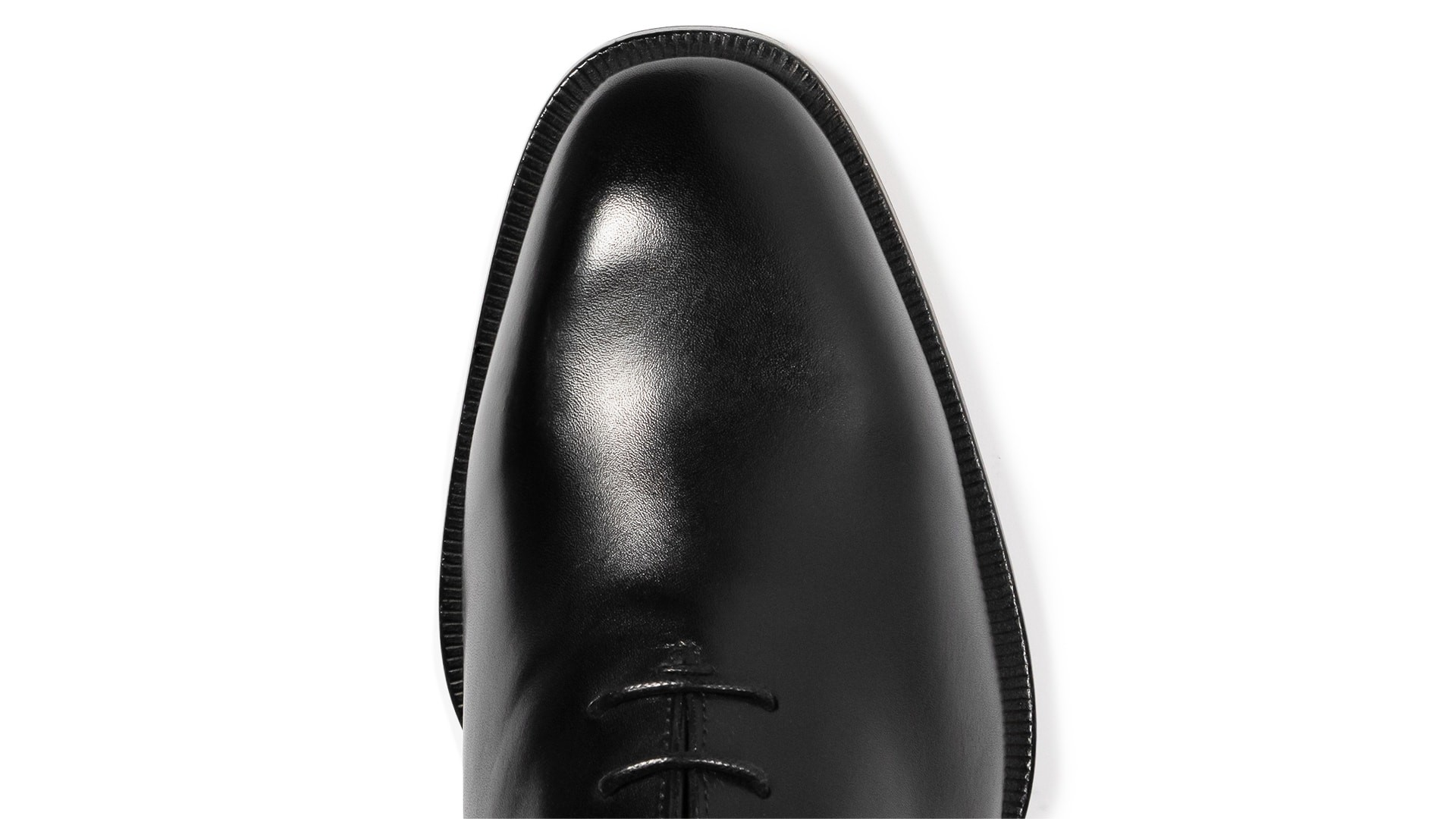 Wholecut Oxford Skóra Crust Nero