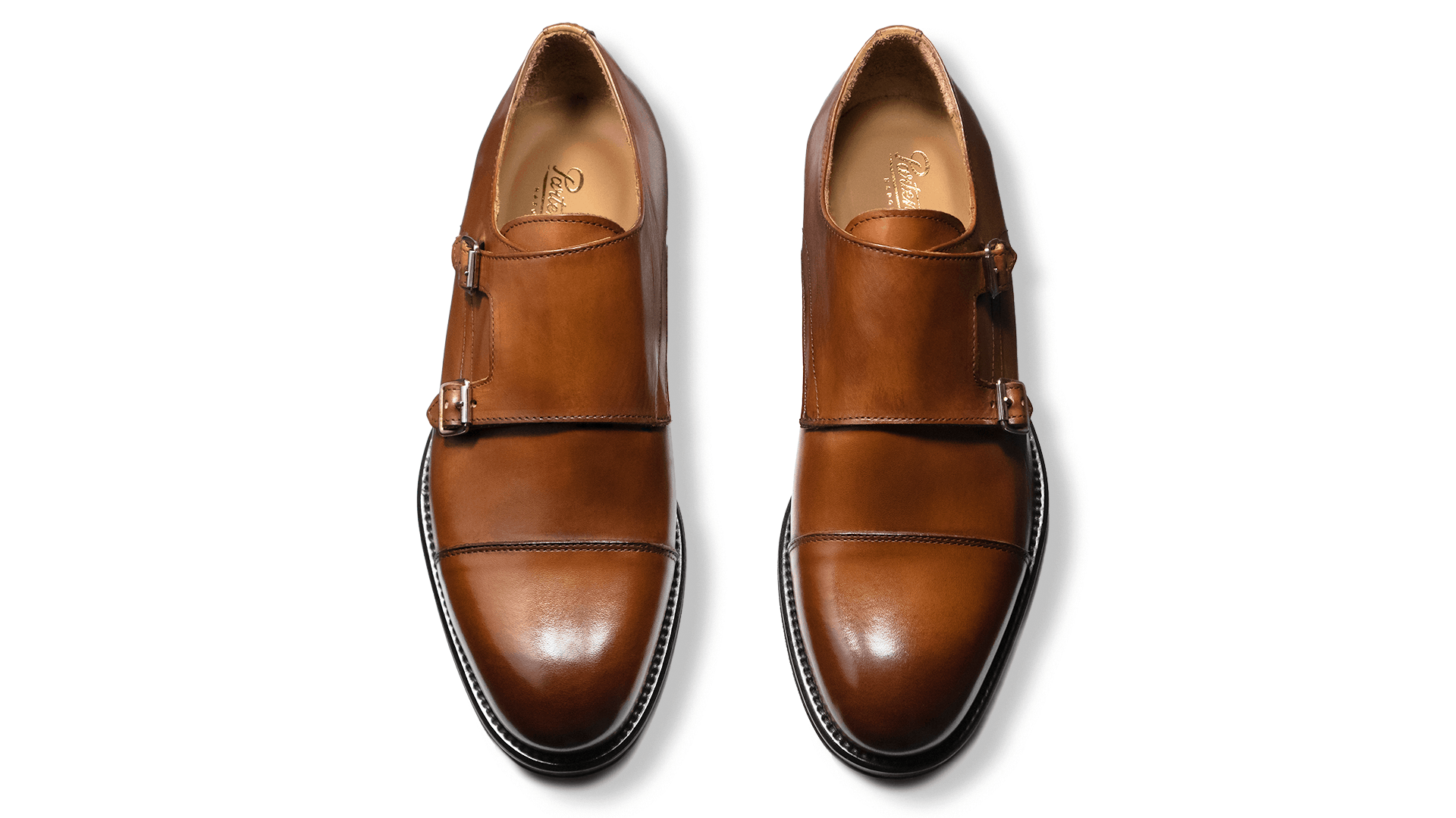 Monk Shoes Crust Cuoio