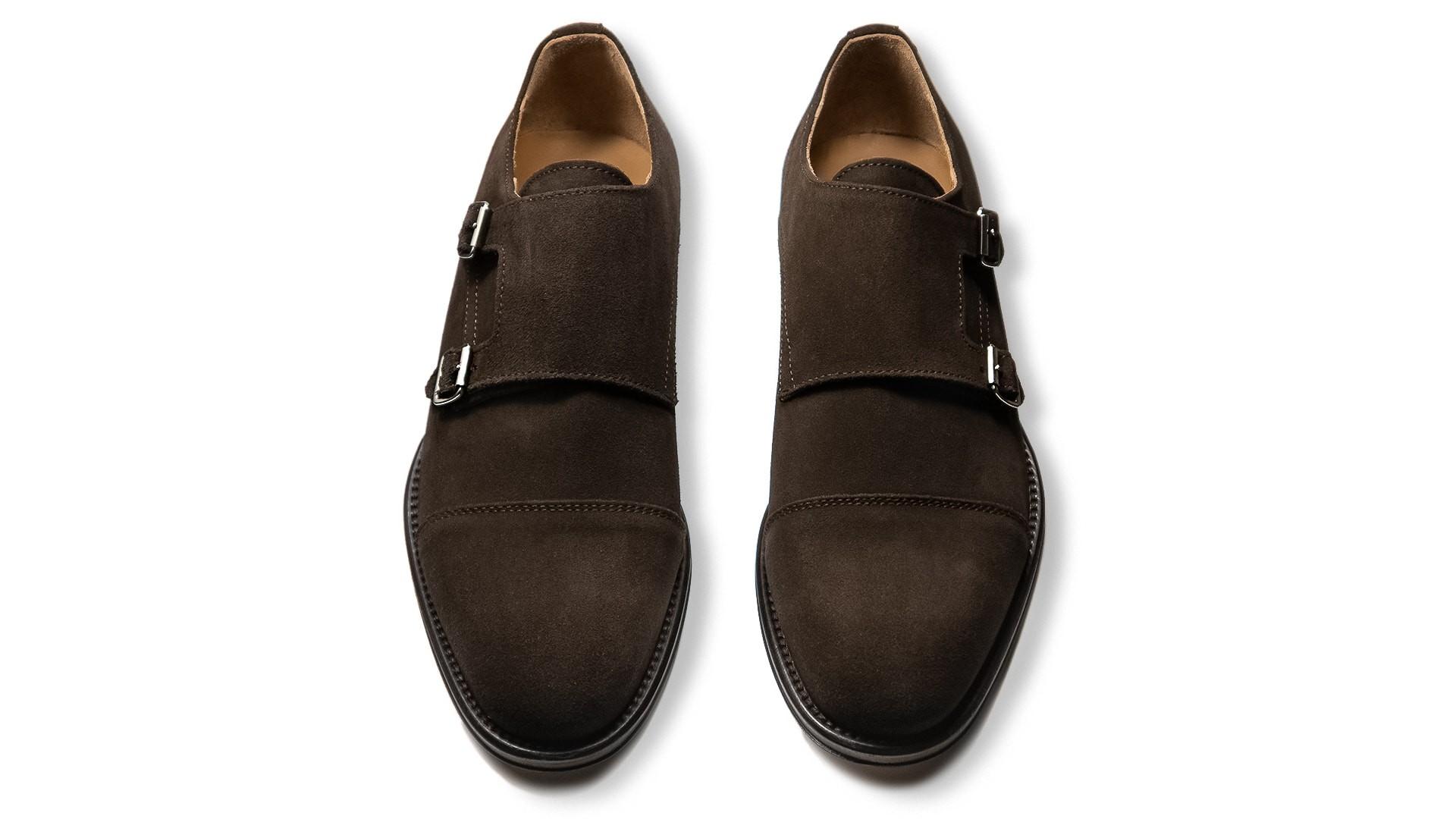 Monk Shoes Zamsz Espresso