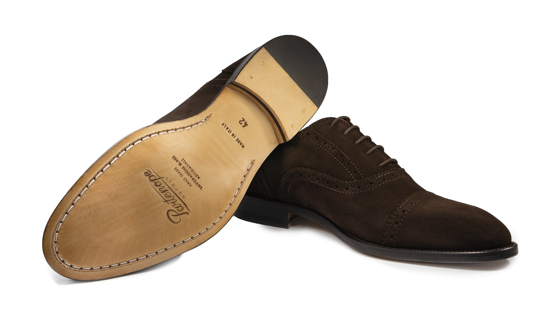 Semi Brogue Zamsz Caffè