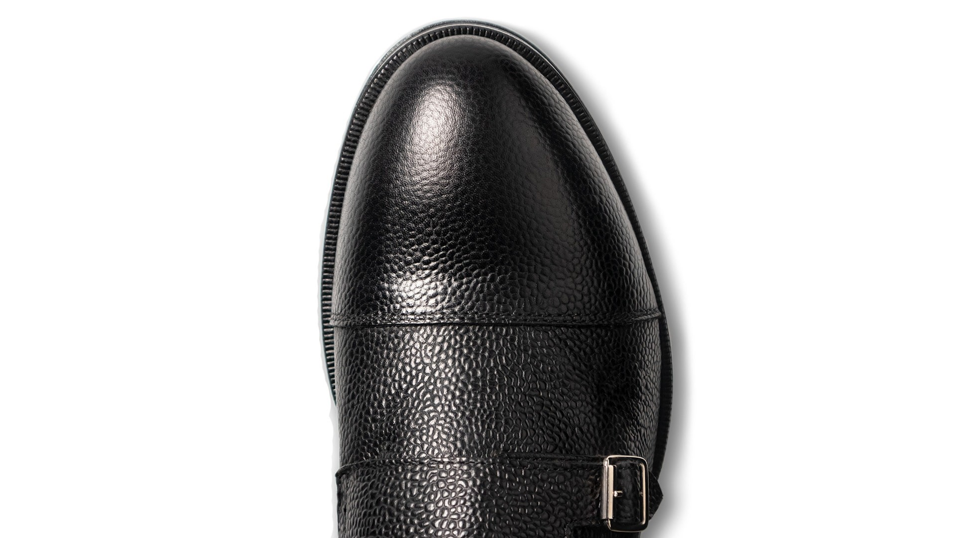Monk Shoes Scotch Grain Nero