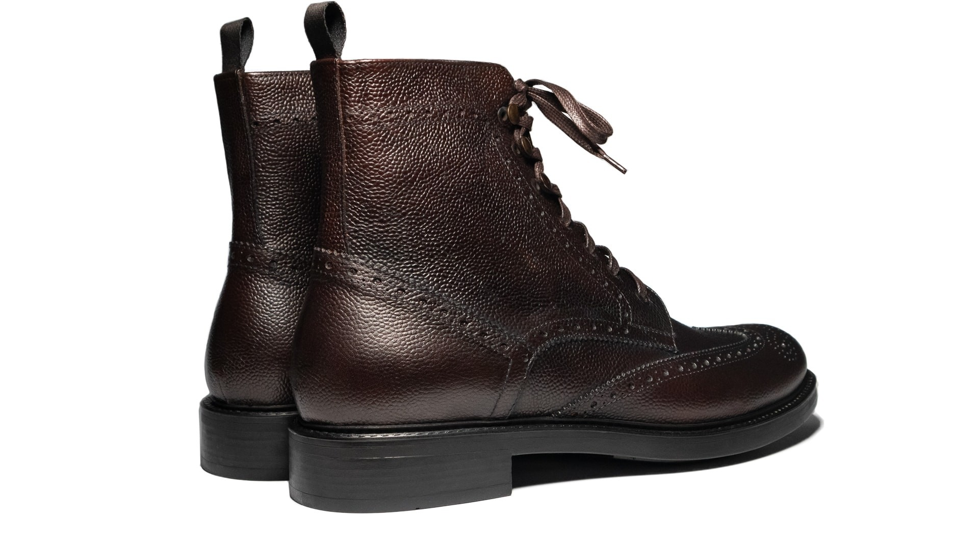 Brogue Boots Scotch Grain Testa di Moro