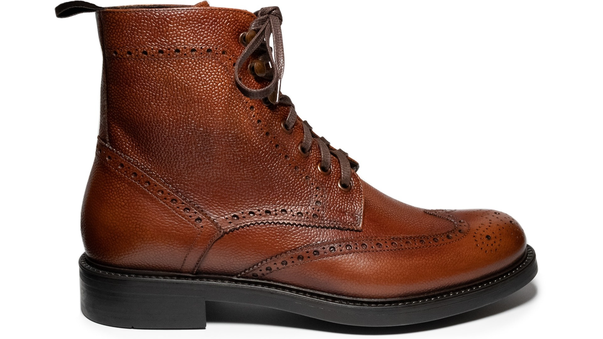 Brogue Boots Scotch Grain Cognac