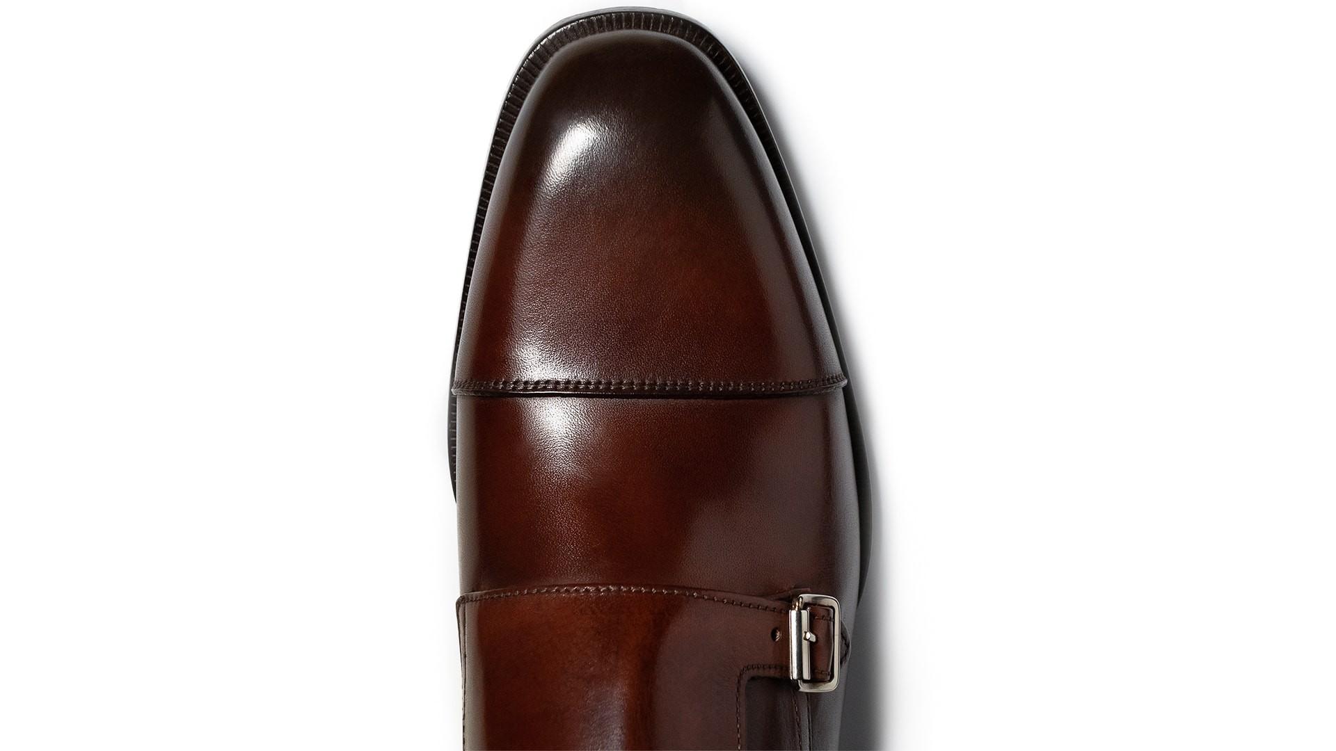 Monk Shoes Crust Marrone