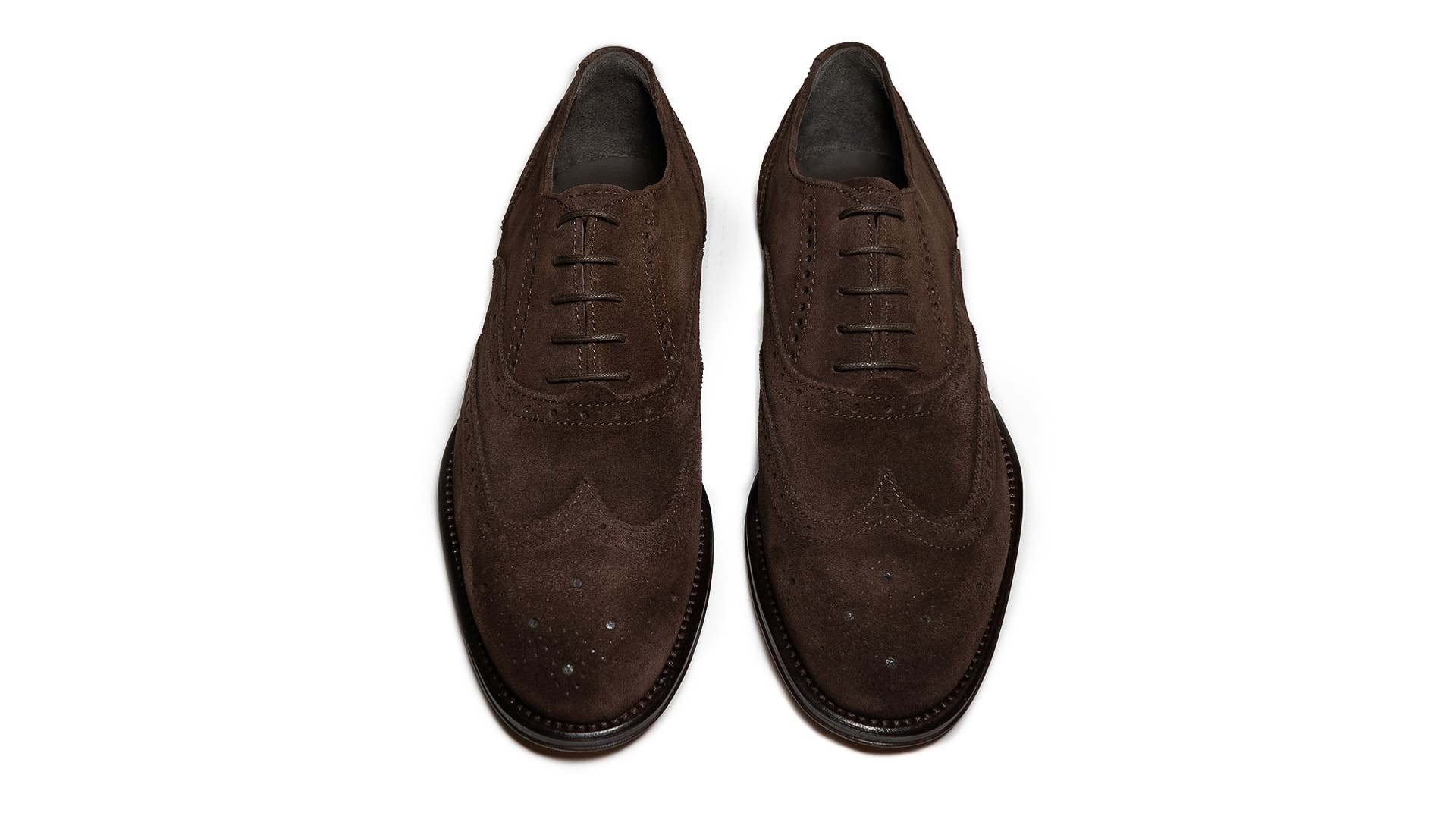 Brogue Oxford Zamsz Ebano