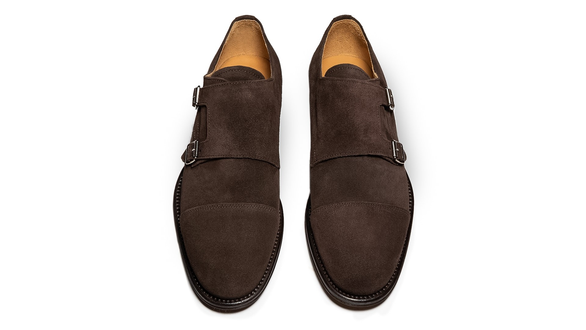 Monk Shoes Zamsz Ebano