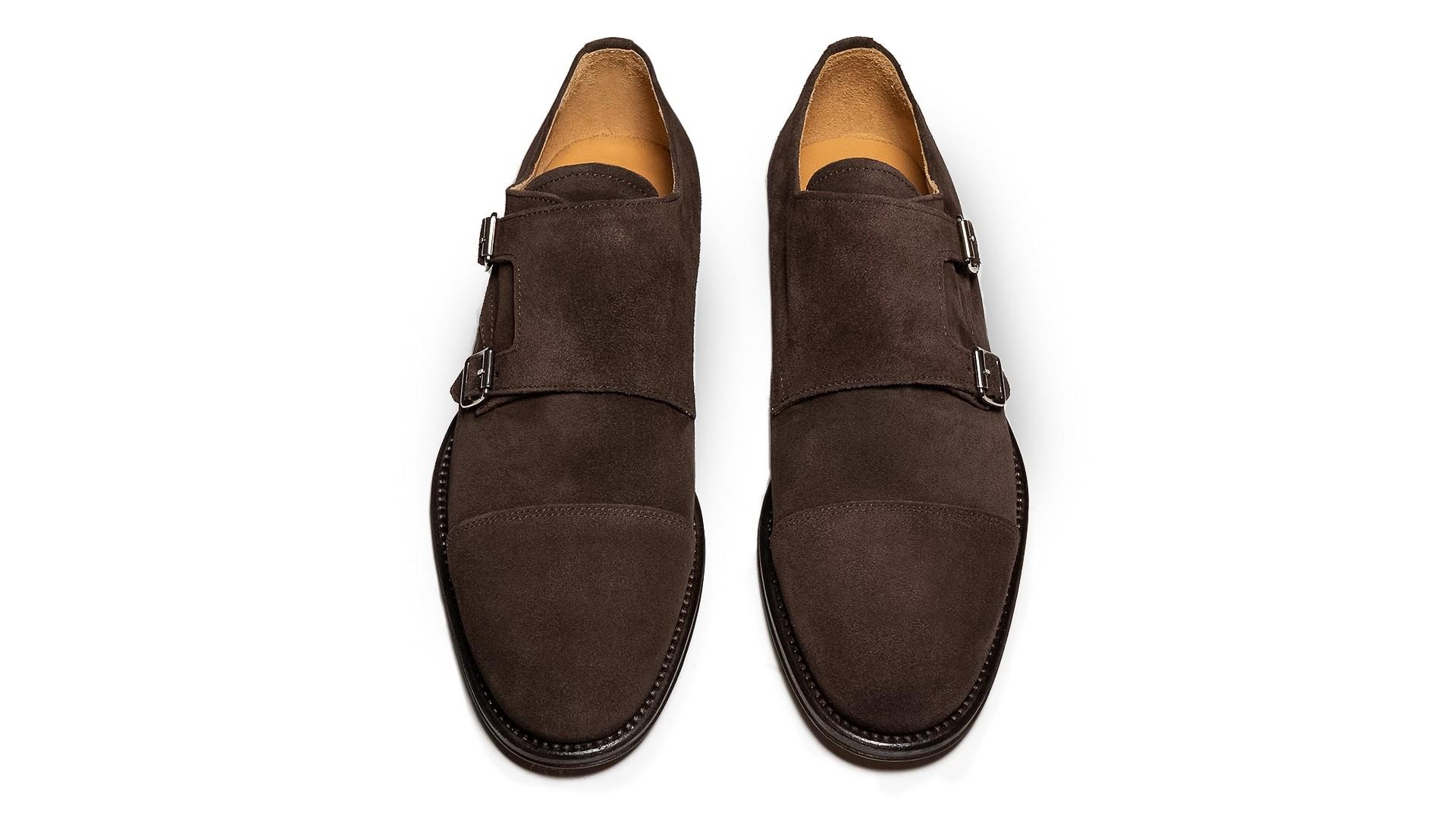Monk Shoes Zamsz Ebano