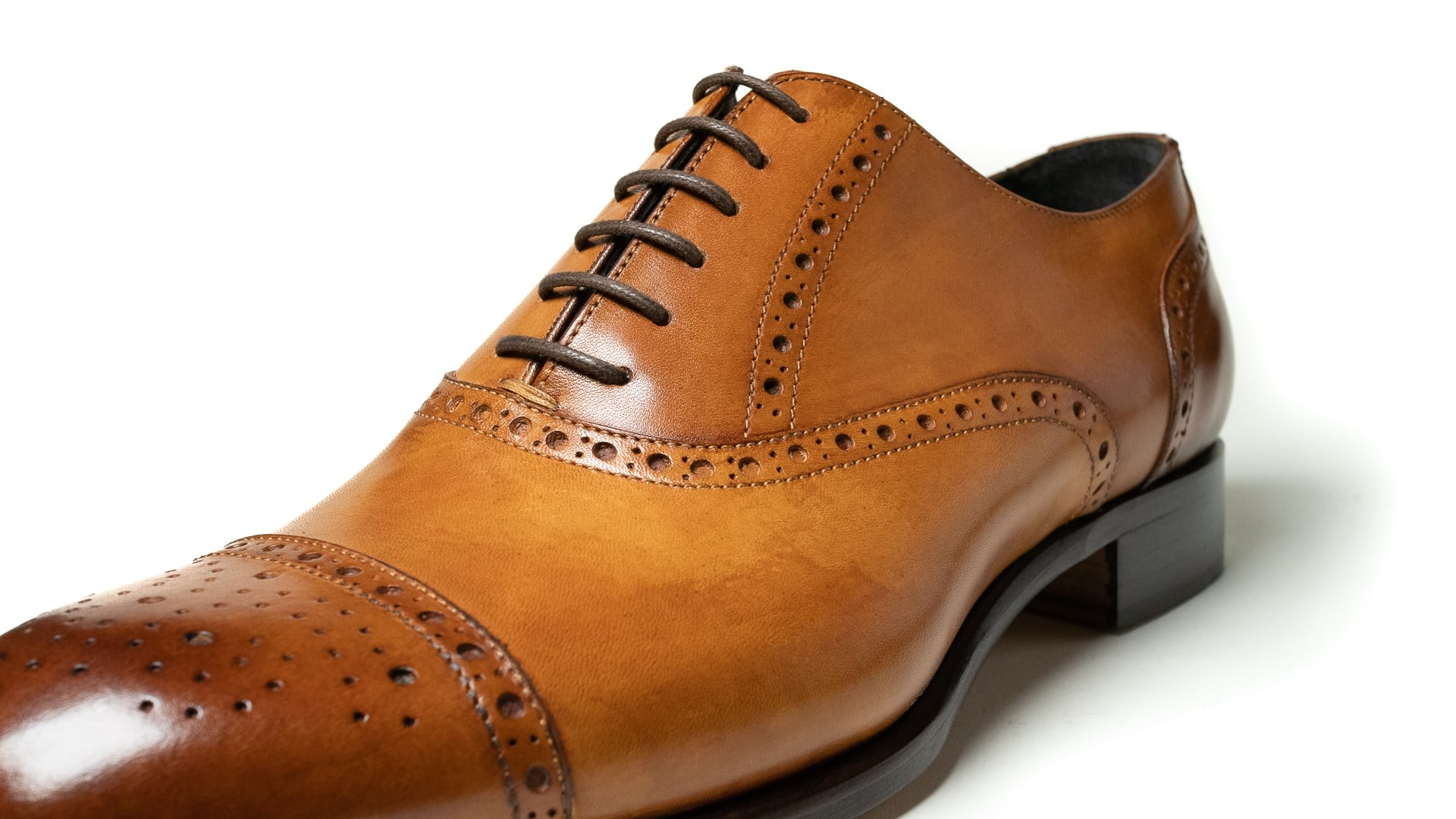 Semi Brogue Skóra Cielęca Tan