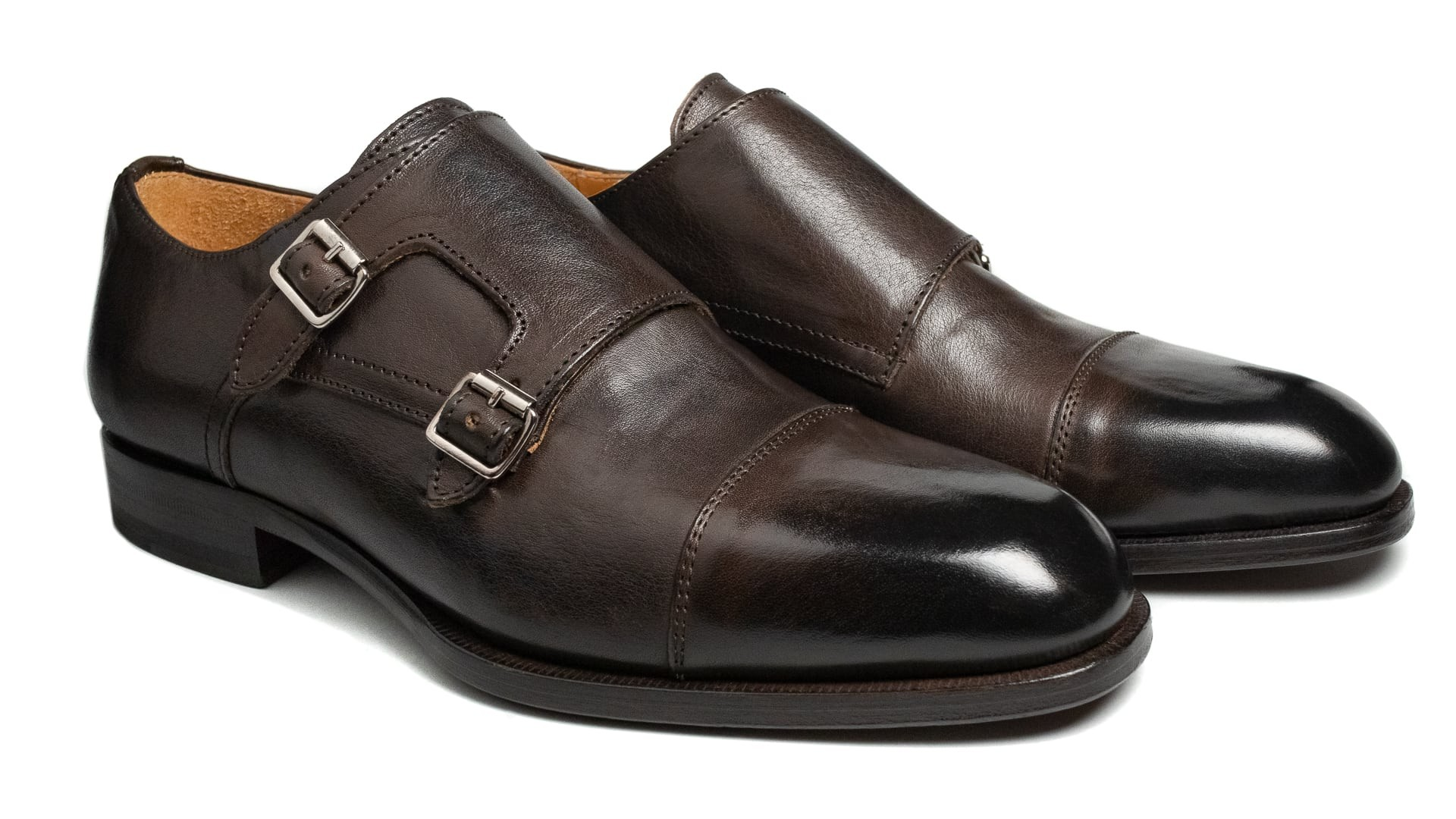 Monk Shoes Vacchetta Testa Di Moro