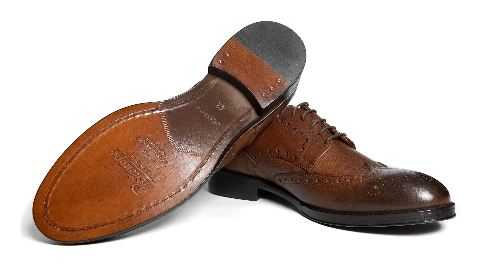 Derby Brogue Full Grain Marrone