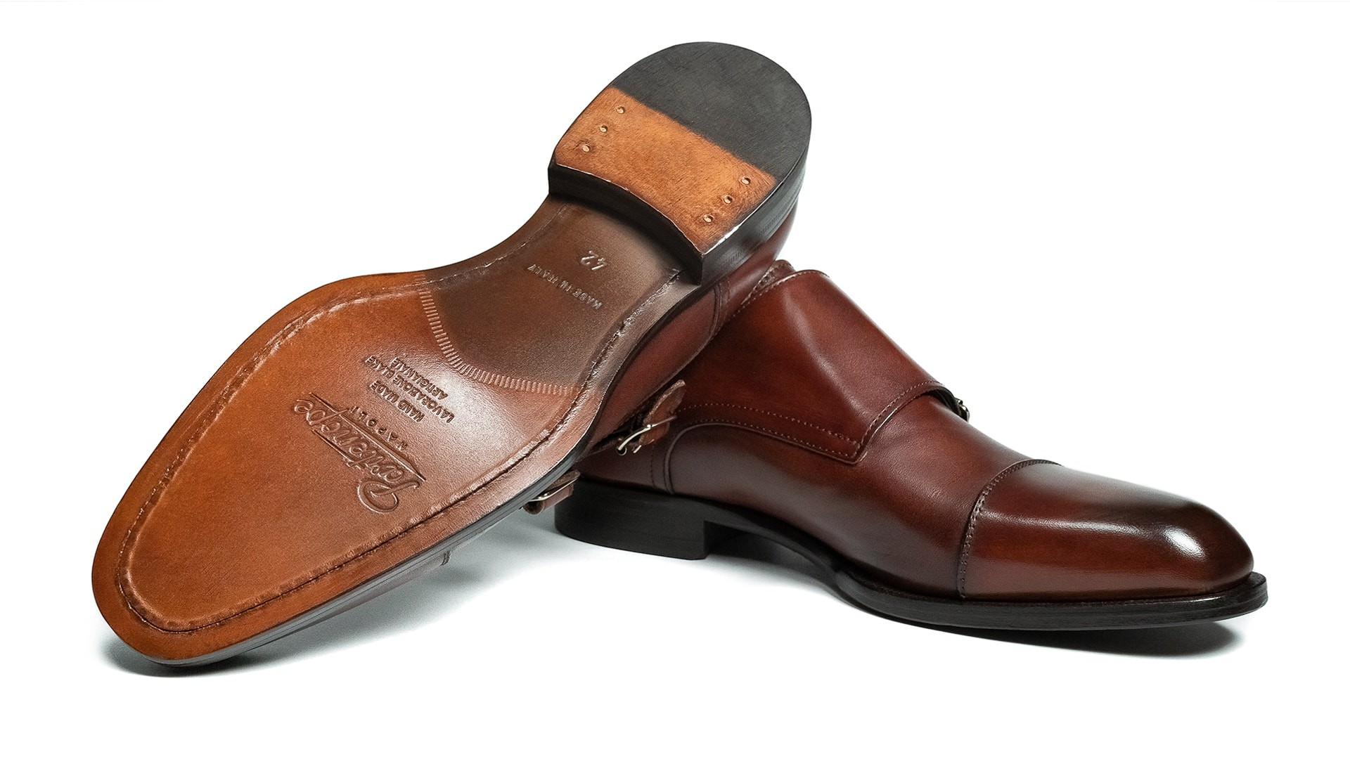 Monk Shoes Crust Marrone