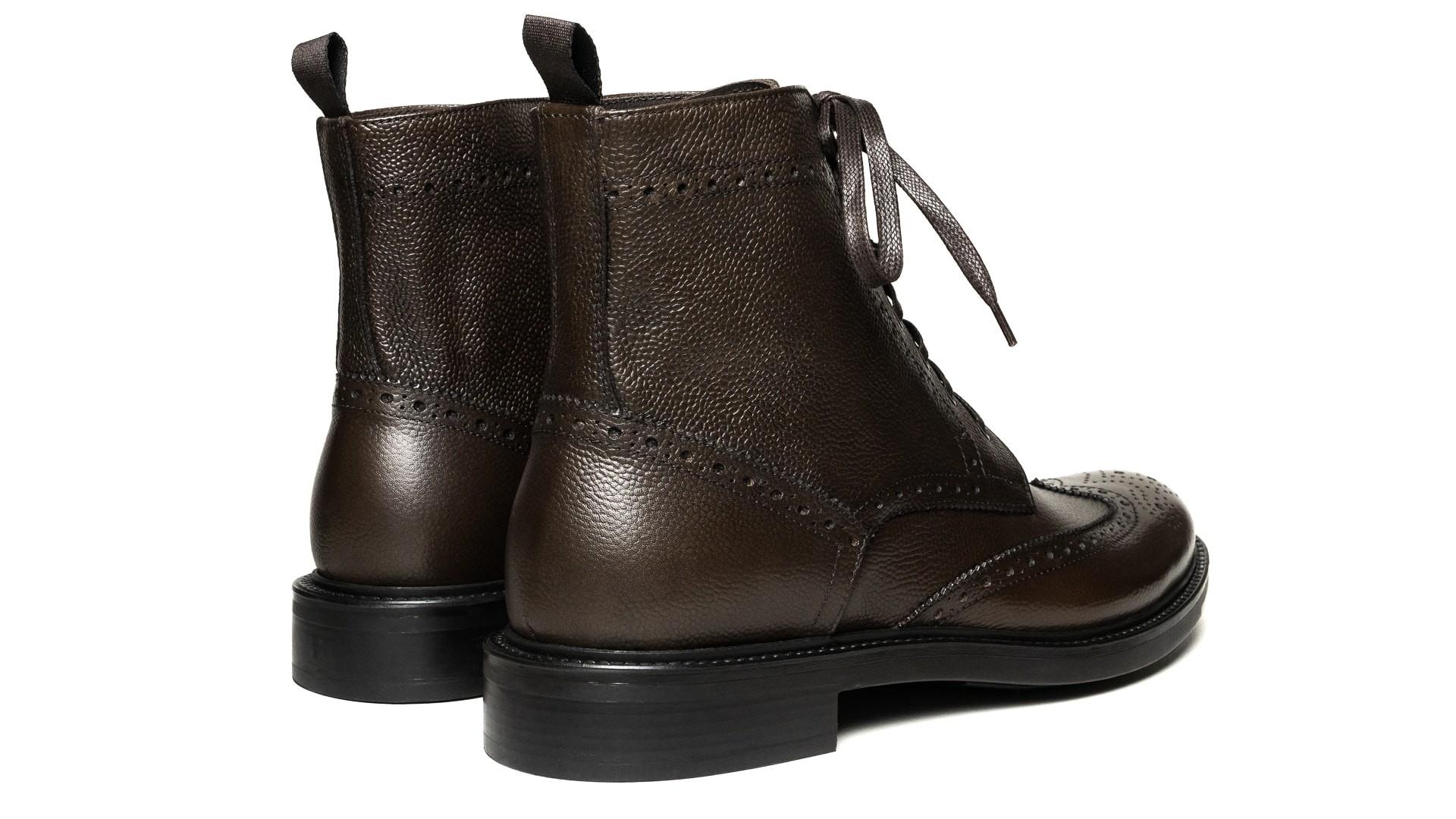 Brogue Boots Scotch Grain Marrone