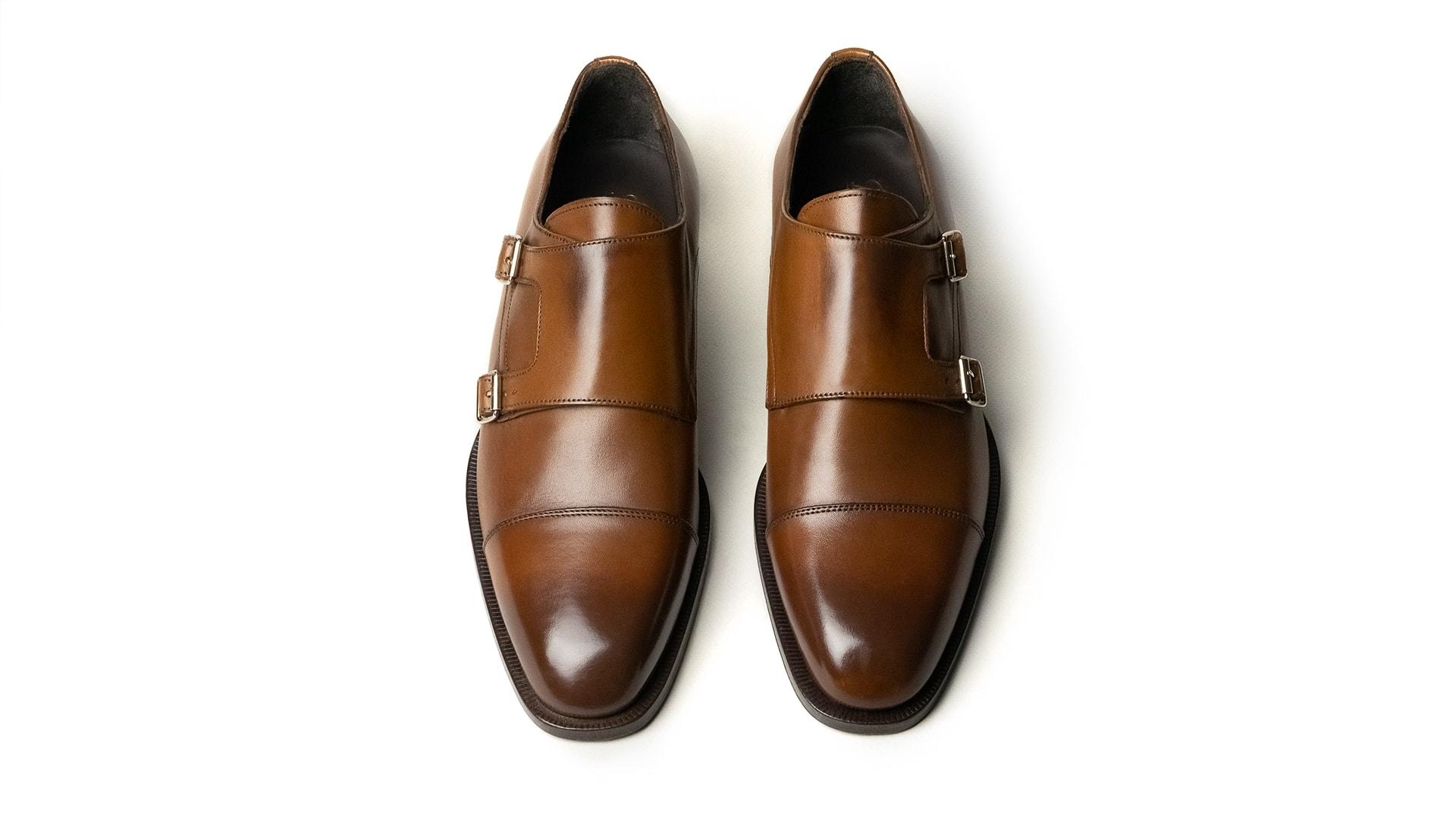 Monk Shoes Calfskin Tan