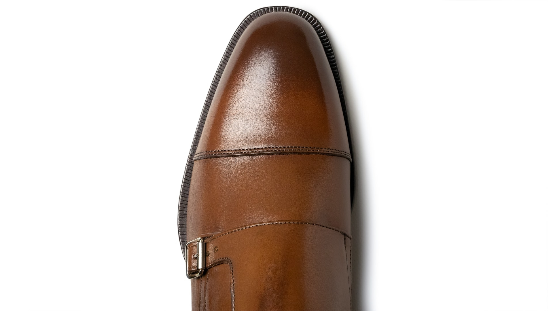 Monk Shoes Skóra Cielęca Crust Tan