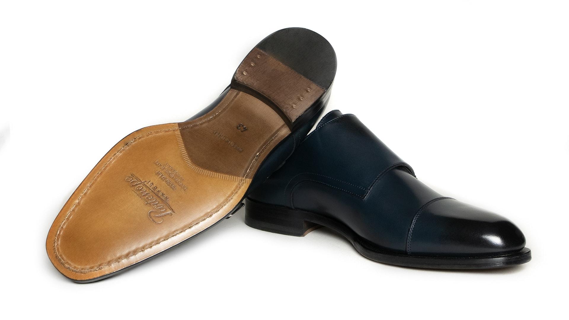 Monk Shoes Calfskin Blu Notte