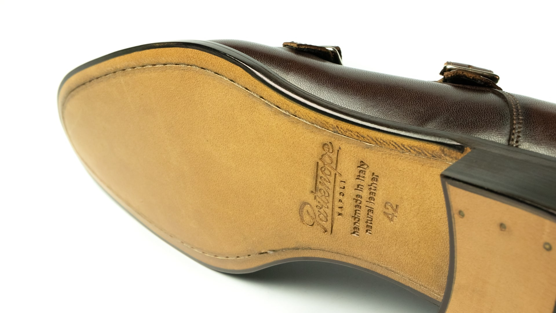 Monk Shoes Calfskin Leather Brown