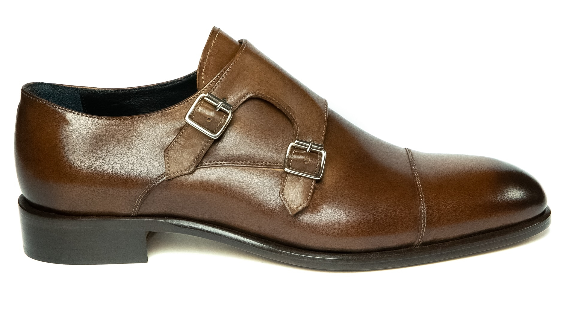 Monk Shoes Skóra Cielęca Oak
