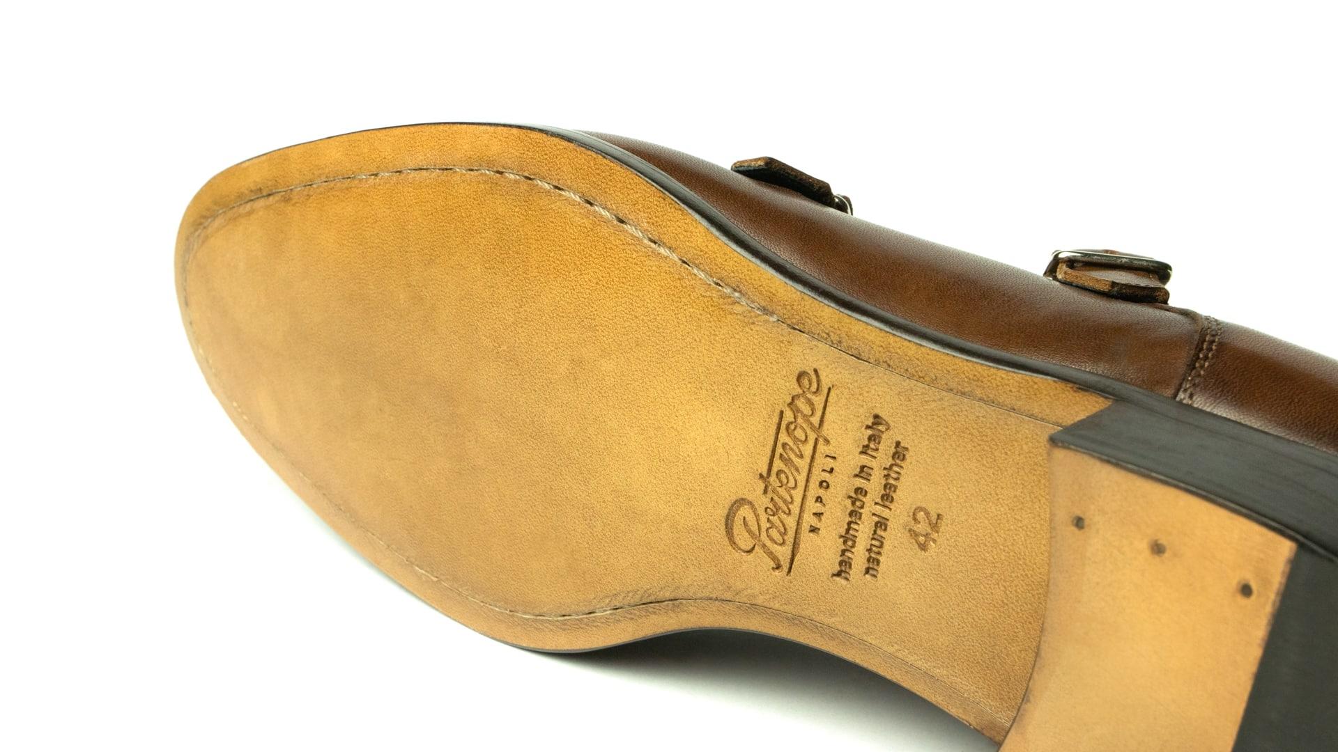 Monk Shoes Calfskin Leather Oak