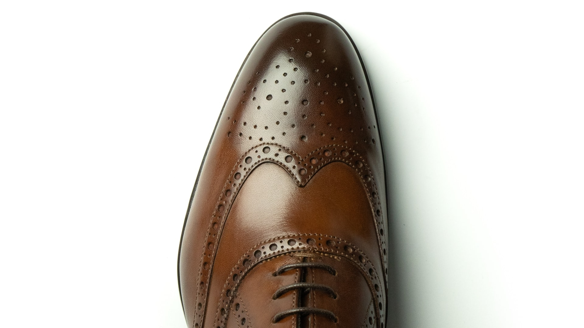 Oxford Brogue Calfskin Leather Tan