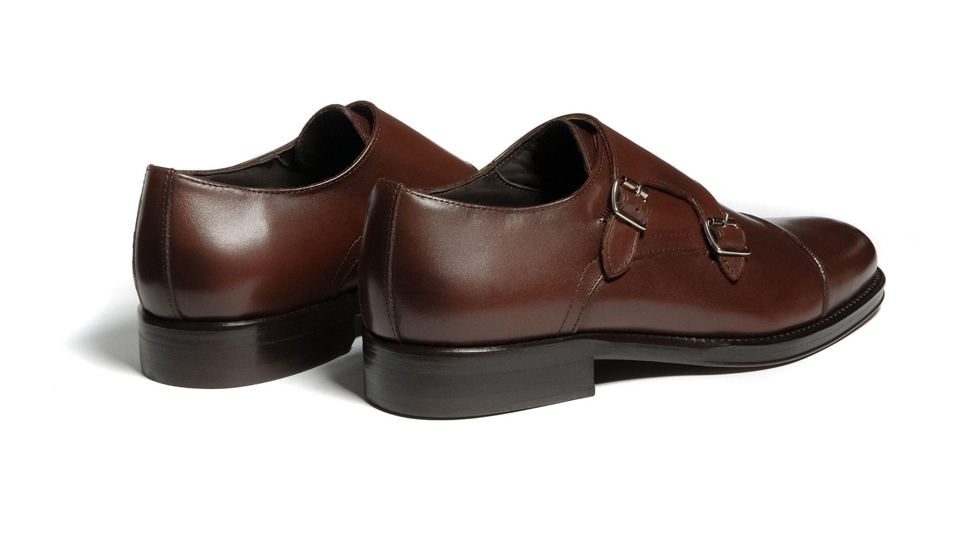 Monk Shoes Double Sole Brązowe