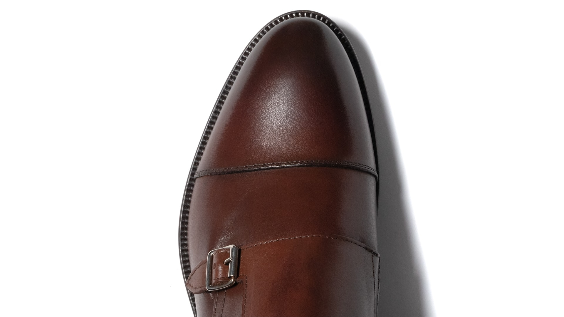 Monk Shoes Calfskin Leather Marrone