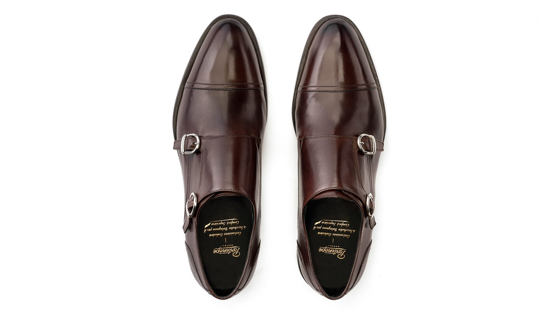MONK SHOES Sacchetto Bolognese Brązowe