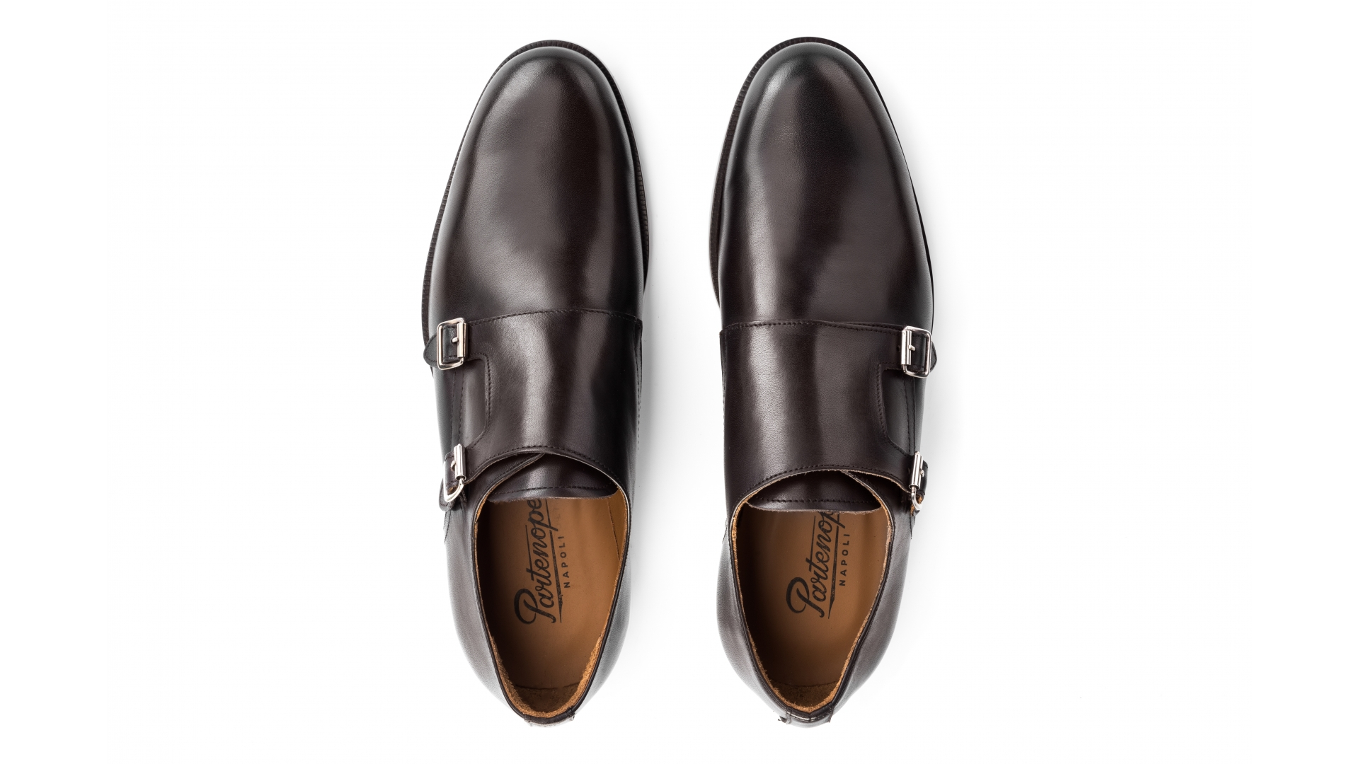 Monk Shoes Skóra Cielęca Espresso