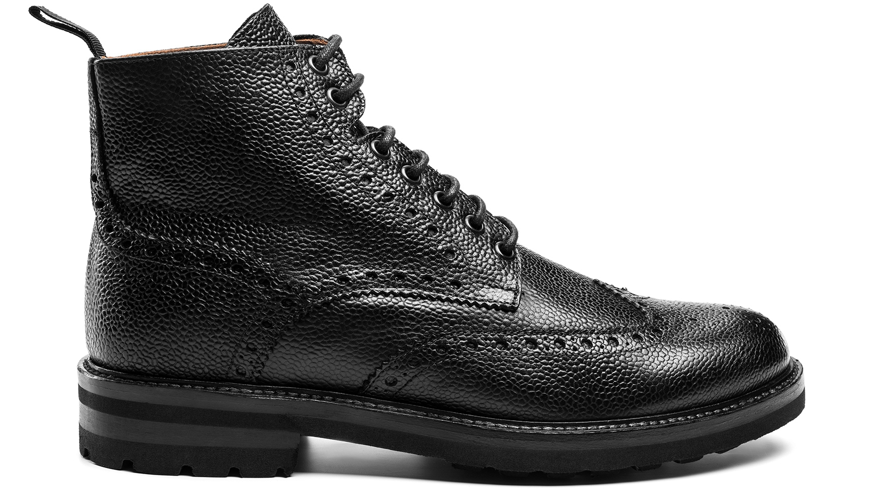 Brogue Boots Scotch Grain Czarne
