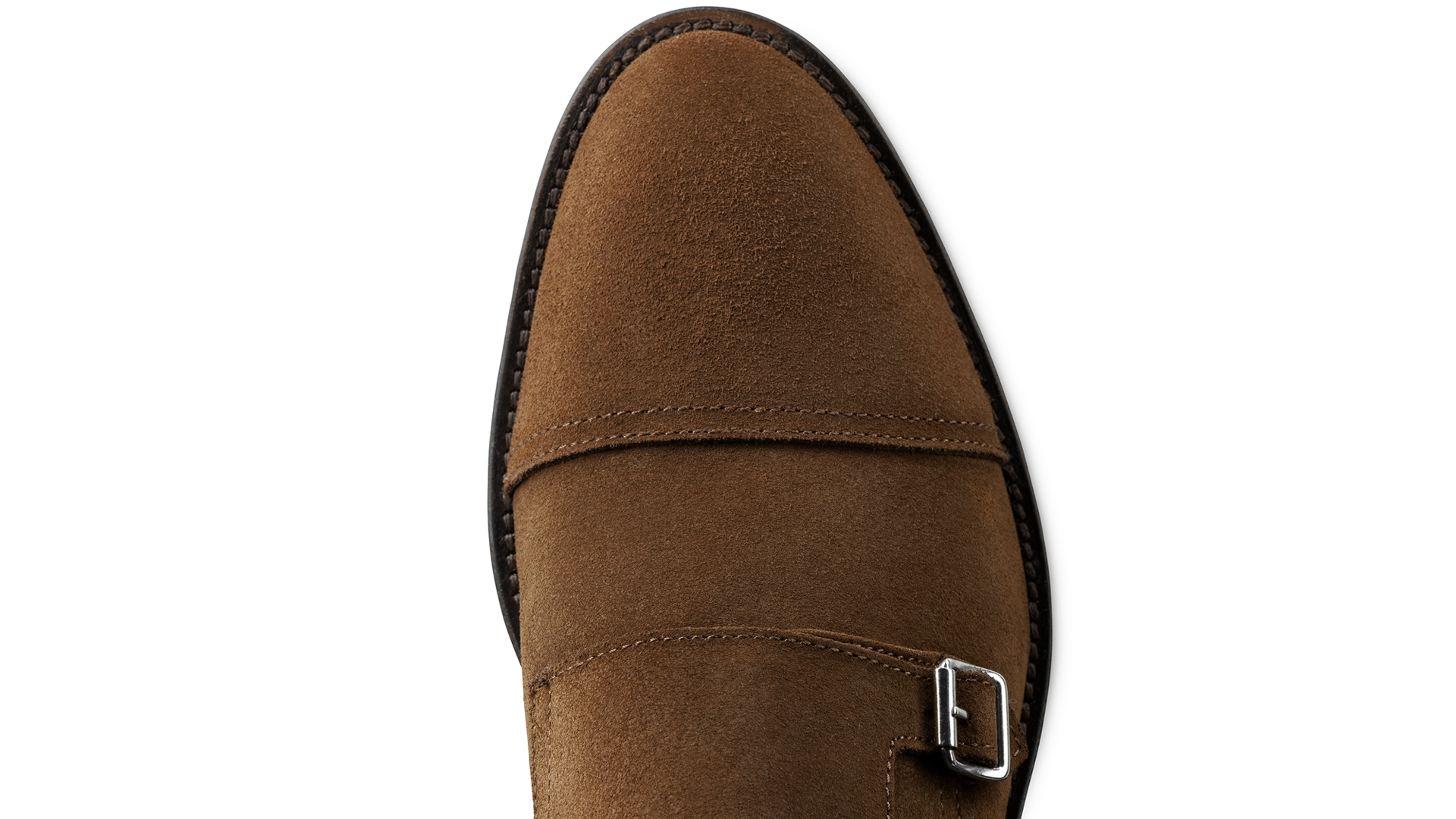 Monk Shoes Brown Suede