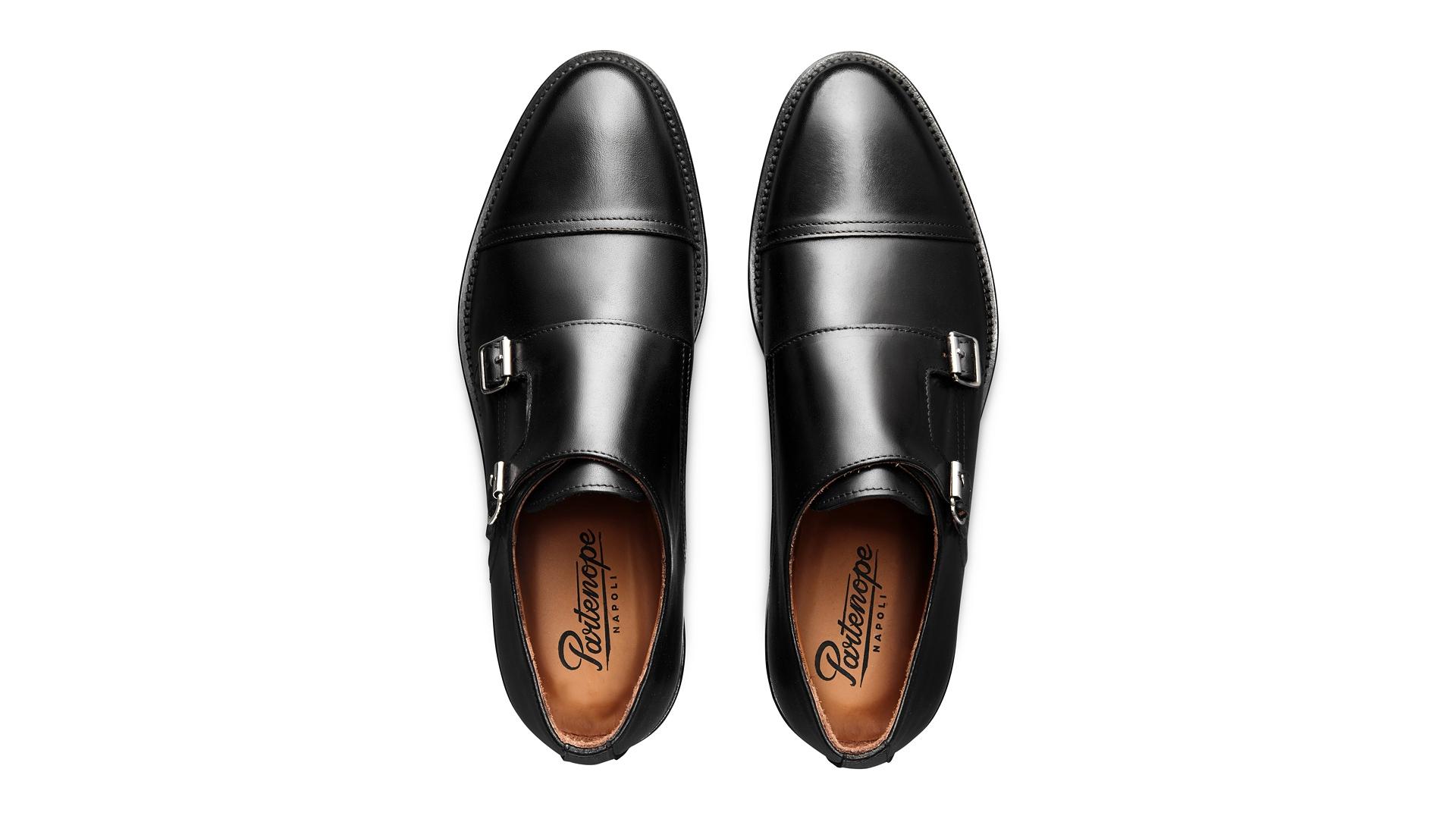 Monk Shoes  Skórca Cielęca Czarne