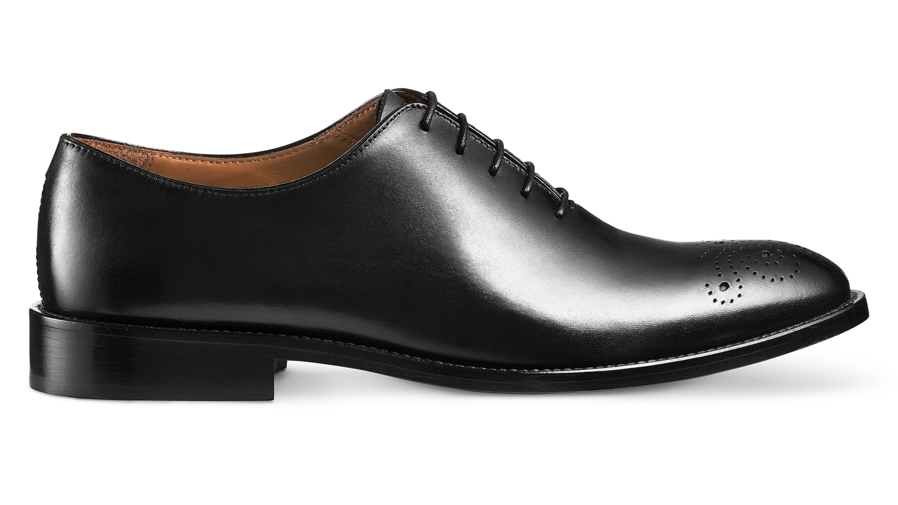 Wholecut Oxford Calfskin Black