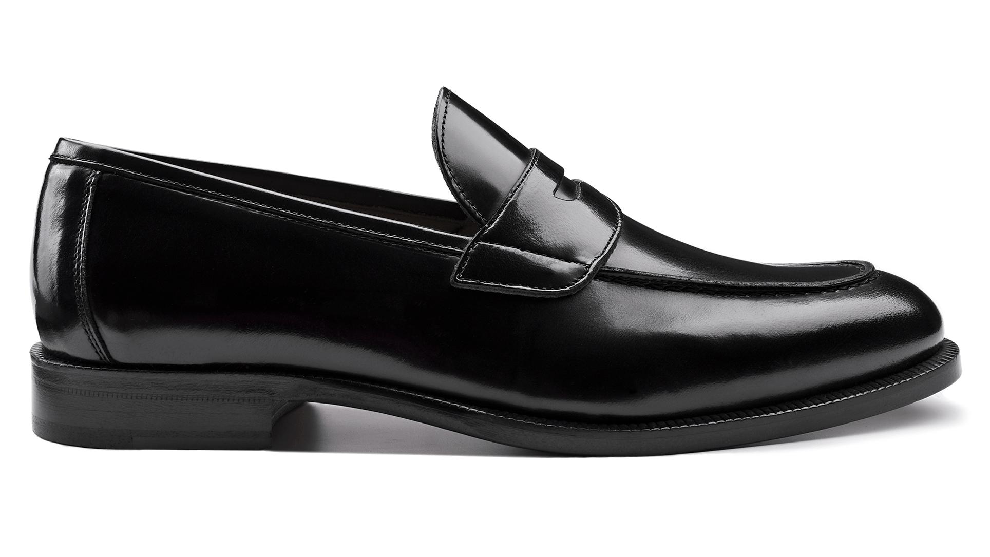 Penny Loafers Polished Black Calfskin