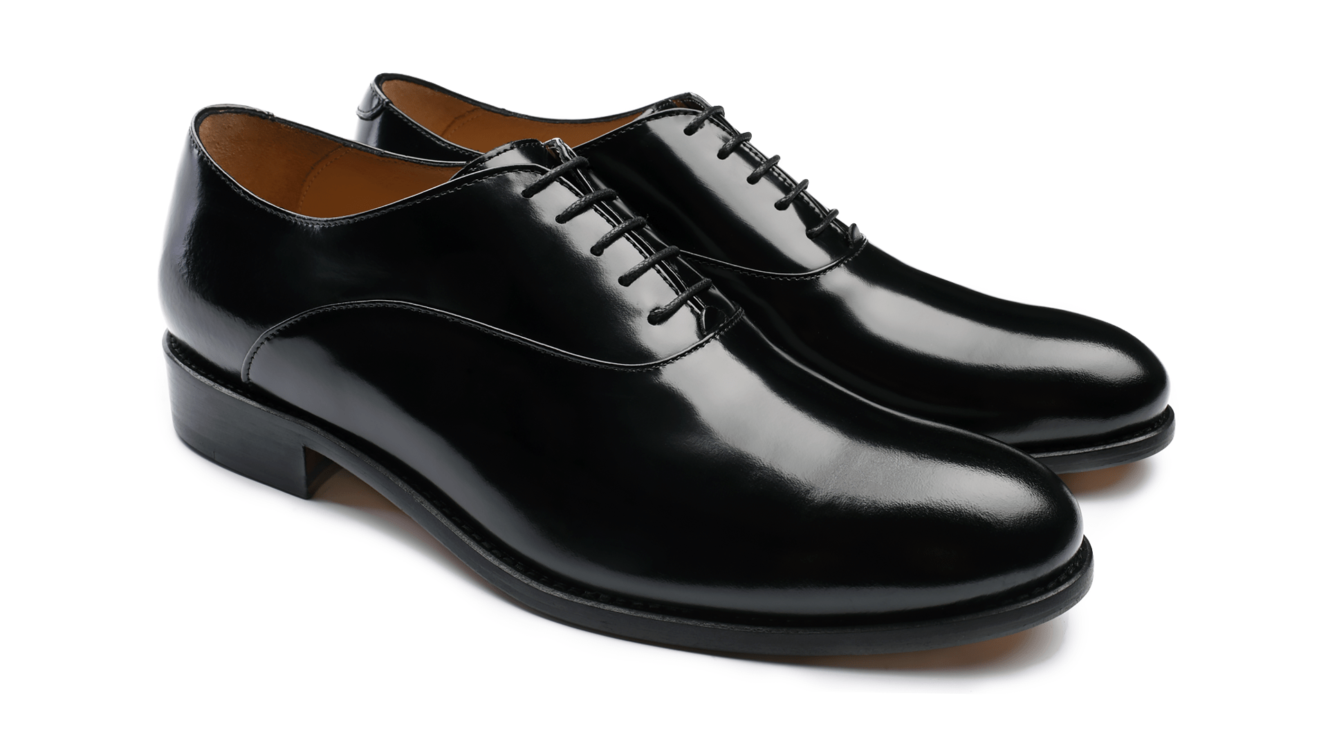 Oxford Plain Toe Polished Black Calf
